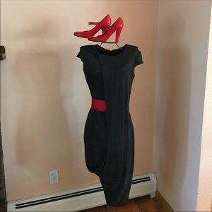 Iconic Alexander McQueen drape-front dress